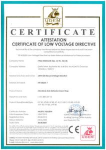 EN Certificate of Low Voltage Fly Killers